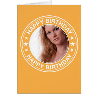Happy Birthday picture Frame in Yellow Card