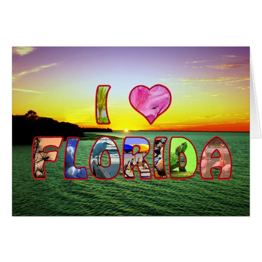 Happy Birthday Picturesque I *Heart* Florida Wish Card