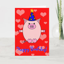 Happy Birthday! Piggy Power Card