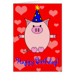 Happy Birthday! Piggy Power Card