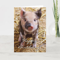 Happy Birthday Piglet Card