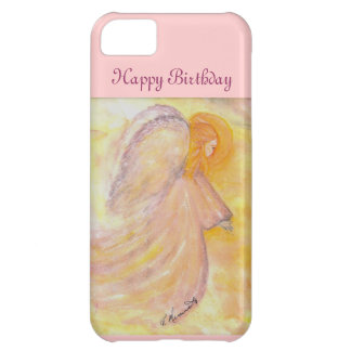 Happy Birthday Pink Angel Cover For iPhone 5C