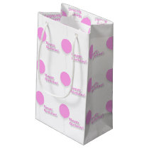 Happy Birthday Pink Balloons Gift Bag
