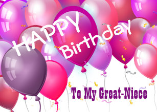 Great Niece Birthday Cards Zazzle