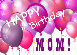 balloons for mom birthday cards zazzle