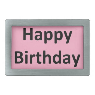 Happy Birthday Pink Belt Buckle