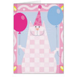 Happy Birthday Pink Cat Card