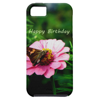 Happy Birthday Pink Flower Butterfly iPhone 5 Cases