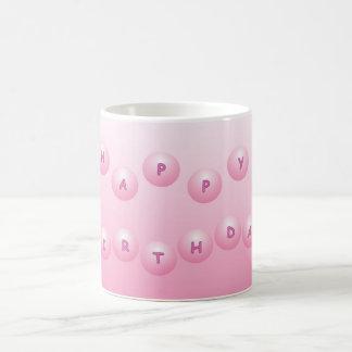 Happy Birthday Pink Orbs Coffee Mug