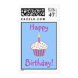 Happy Birthday (pink) Postage