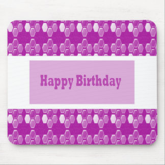 Happy Birthday Pink Purple Greeting Love Romance 9 Mouse Pads