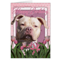 Happy Birthday - Pitbull - Jersey Girl Card
