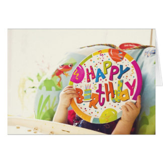 happy birthday plate card