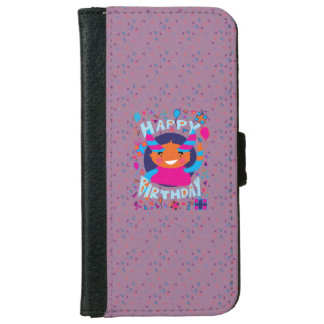 Happy Birthday Playful Monster iPhone 6 Wallet Case