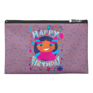 Happy Birthday Playful Monster Travel Accessories Bag