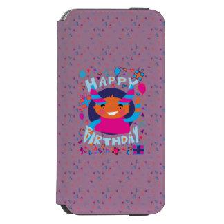 Happy Birthday Playful Monster Incipio Watson™ iPhone 6 Wallet Case