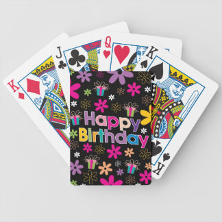 Happy Birthday Bicycle Card Deck
