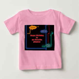 Happy Birthday Plumber Birthday Guy Tee Shirt