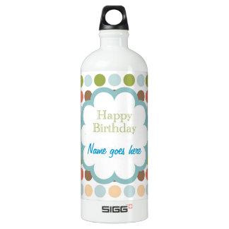 Happy Birthday (poka dots) Aluminum Water Bottle