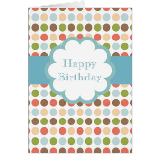Happy Birthday (poka dots) Card