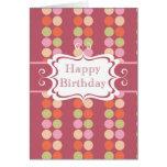 Happy Birthday (poka dots) Cards