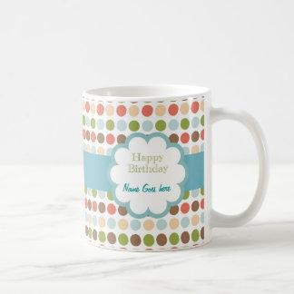 Happy Birthday (poka dots) Coffee Mug