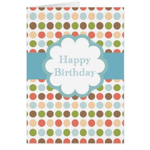 Happy Birthday (poka dots) Greeting Card
