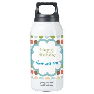 Happy Birthday (poka dots) Insulated Water Bottle