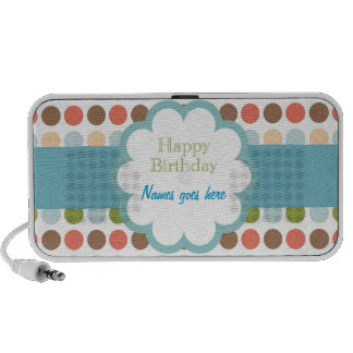 Happy Birthday (poka dots) iPhone Speakers