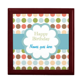 Happy Birthday (poka dots) Keepsake Box