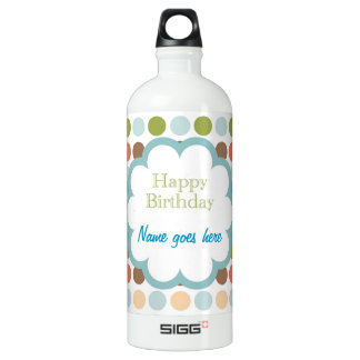 Happy Birthday (poka dots) SIGG Traveler 1.0L Water Bottle