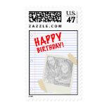 happy birthday! polaroid postage