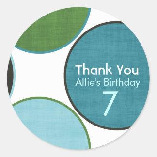 Happy Birthday Polka-Dot  Customizable Stickers