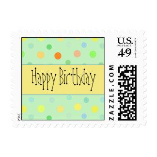 Happy Birthday - Polka Dot Design Postage