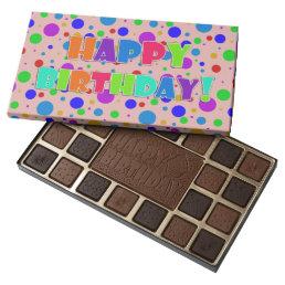 Happy Birthday Polka Dots 45 Piece Box Of Chocolates