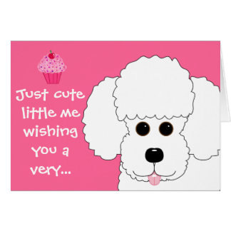 Happy Birthday! Poodle Dog Art Card