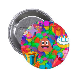 happy birthday poop emoji button
