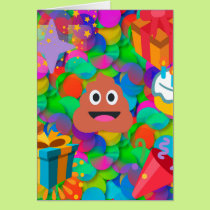 happy birthday poop emoji card