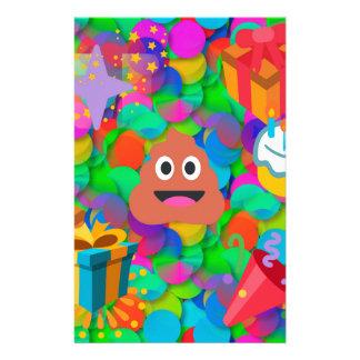 happy birthday poop emoji stationery