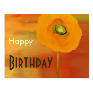 Happy Birthday, poppies in bloom Postcard