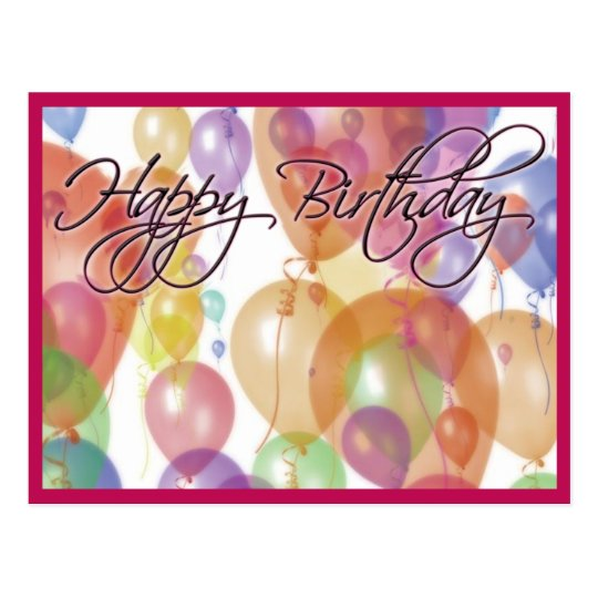 Happy Birthday Post Card Zazzle