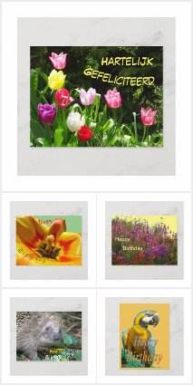 HAPPY BIRTHDAY Post- & Greeting Cards Collection