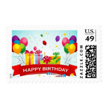 Happy Birthday Postage Stamps