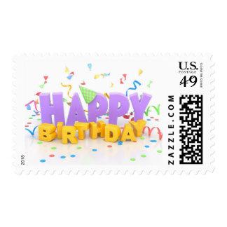 Happy Birthday Postage Stamps