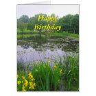 Happy Birthday, Potter Lake, Kansas, in Spring Card