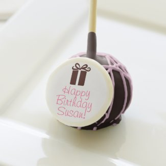 Happy Birthday Present Girly Cake Pops