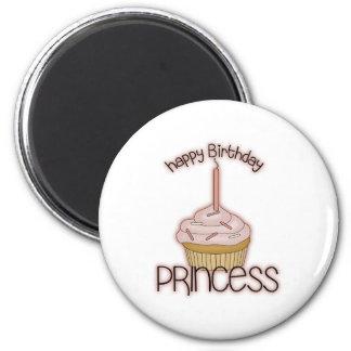 Happy Birthday Princess 2 Inch Round Magnet