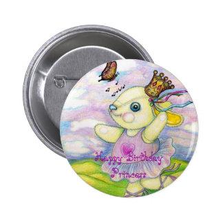 Happy Birthday Princess Button