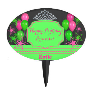 Happy Birthday Princess Celebration Cake Topper