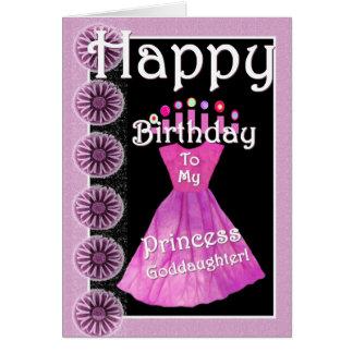Happy Birthday Princess Goddaughter -  Pink Dress Card